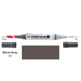 Zig Kurecolor KC3000/W11 Twin S Marker Pen - Warm Grey 11
