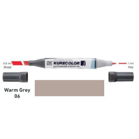 Zig Kurecolor KC3000/W06 Twin S Marker Pen - Warm Grey 6