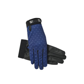 SSG Gloves 8200 Cool Tech Navy w/ Polka Dots