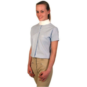 Saddlecraft Ladies Short Sleeve Show Shirt Blue