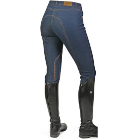 Mark Todd Ladies Denim Breeches Blue
