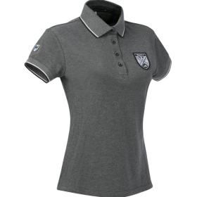962703114 Equi-Theme Polo Shirt Chine Grey Ladies Large
