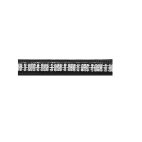415296 JHL 3 Row Clear Diamante Browband Brown Full Size